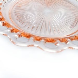 DEPRESSION GLASS Pink Old Colony Open Lace Edge